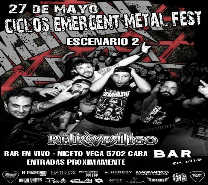 RETROVERTIGO EN CICLOS EMERGENT METAL FEST